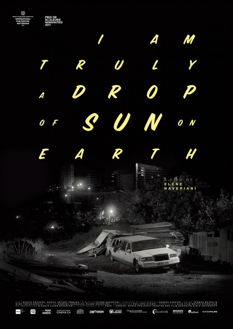 Affiche du film I Am Truly a Drop of Sun on Earth d'Elene Naveriani. Le 14 mars au Cinéma du Grütli dans le cadre du FIFDH