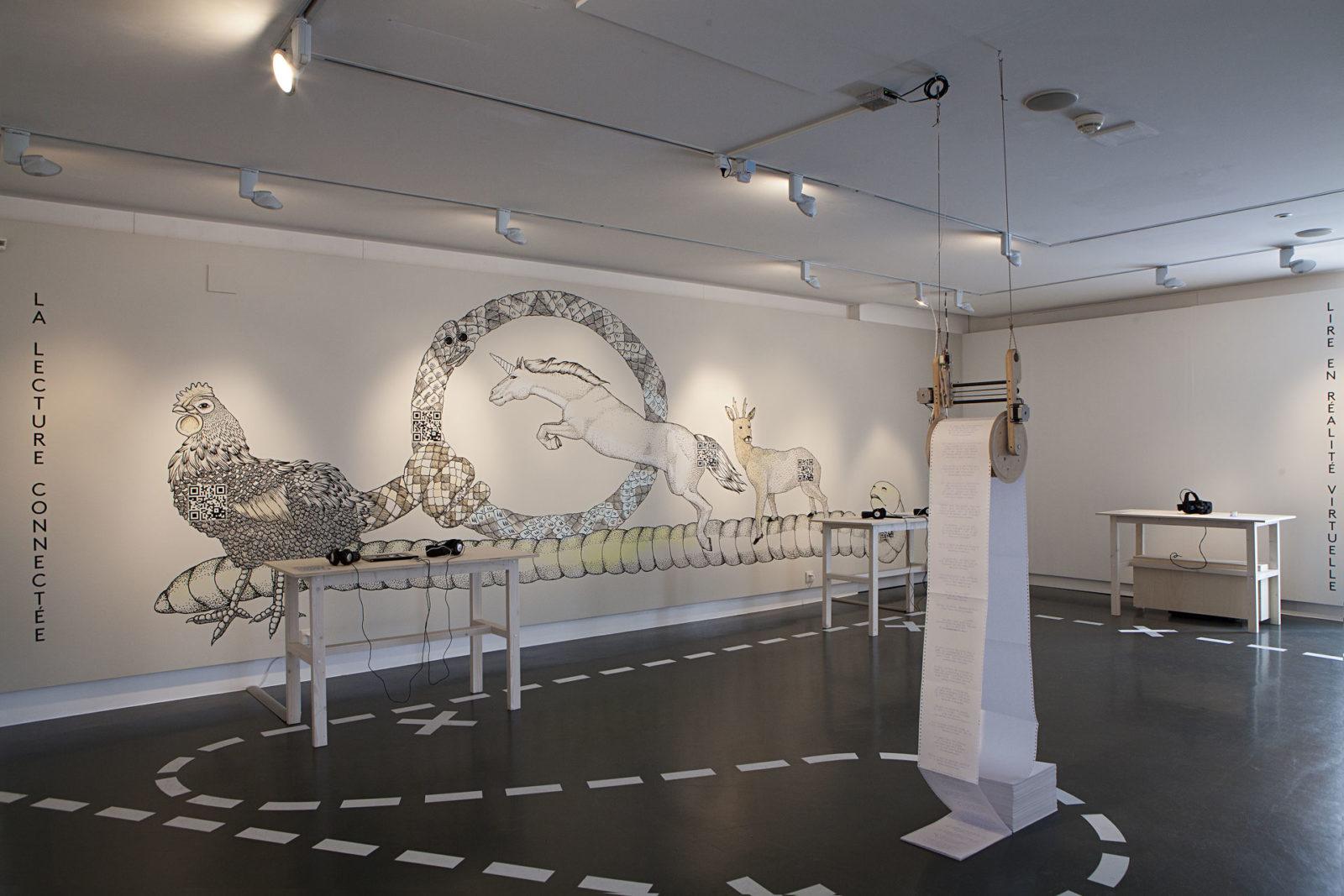 Exposition autour du numérique qu'en lira-t-on, musée de design et d'arts appliqués contemporains, 2017, genève