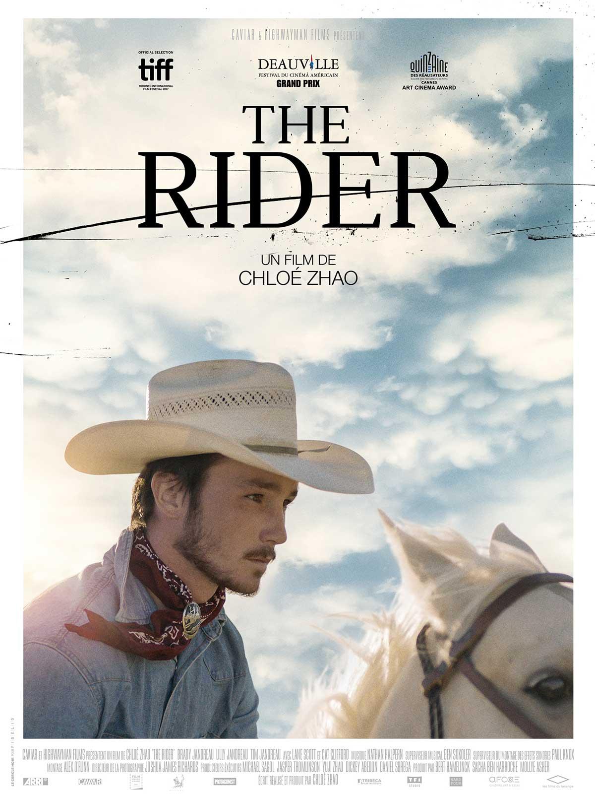 Affiche de The Rider, film de Chloé Zhao, 2018, article par françois graz