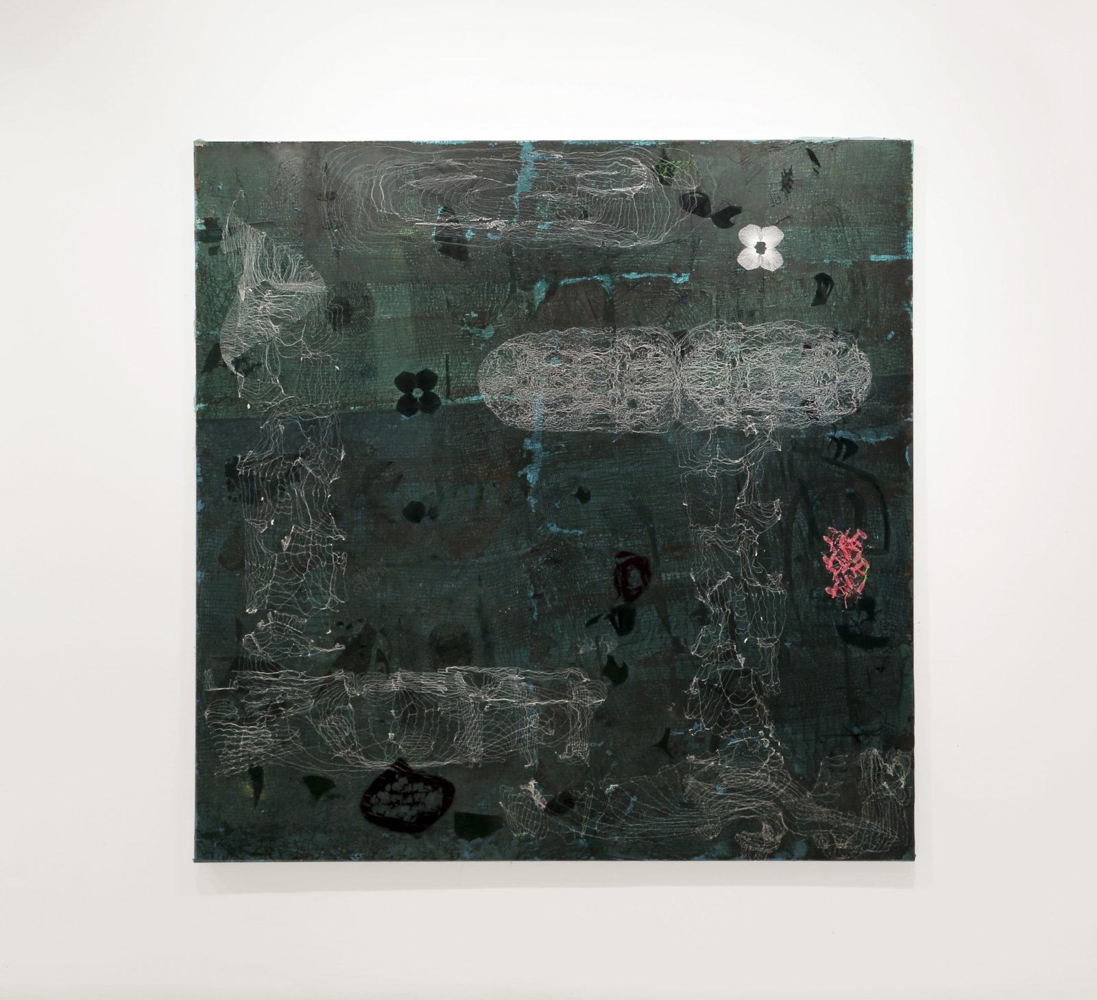 José María Sicilia LA LOCURA DEL VER (VERDE), 2017 Technique mixte sur bois 200 x 200 cm , serial collector, article de mina sidi ali, go out magazine avril 2018