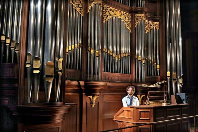 Vincent Thévenaz par Maurane Di Matteo, 4ème festival de l'orgue aubertin
