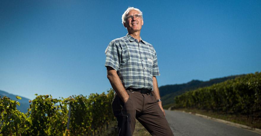 Portrait de Maurice Zufferey vigneron à Sierre publié dans le cadre de Go Out Magazine