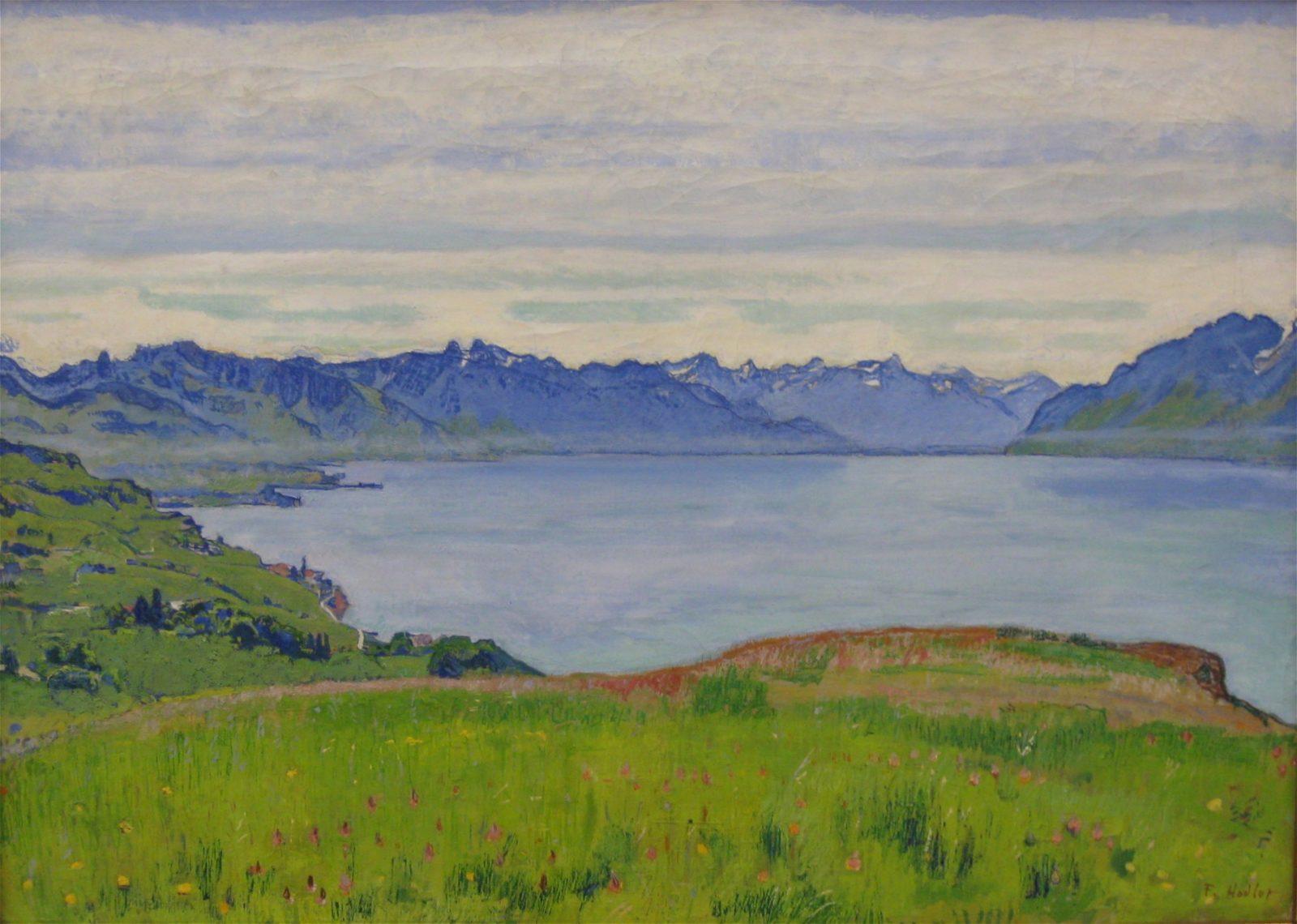 Paysage du Lac Léman » (1906) (c)Ferdinand Hodler, article l'année hodler par quantin arnoux et anne fatout pour go out magazine mai 2018