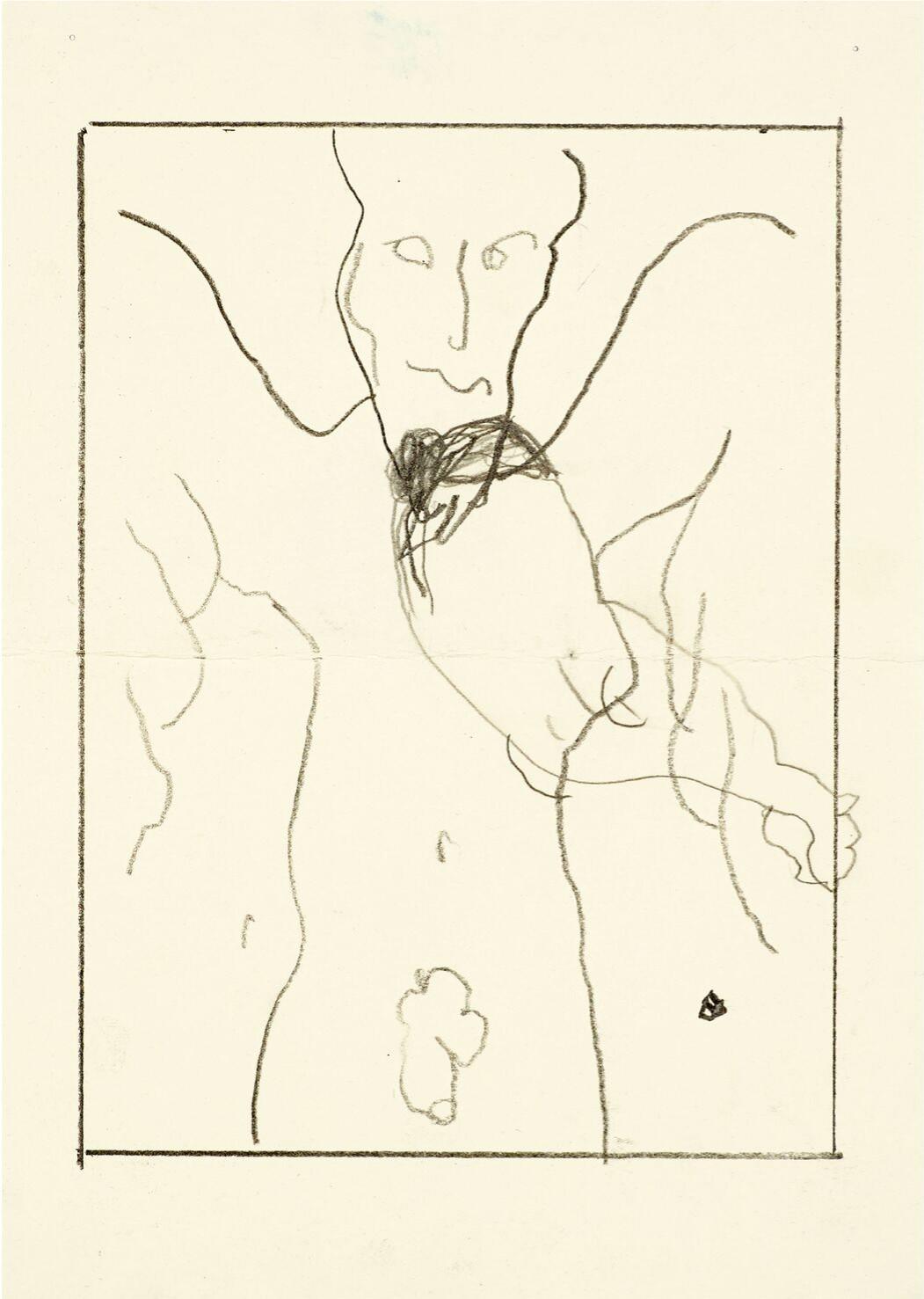 « Untitled » (2018) (c)Joe Bradley, Plus connu pour ses grandes toiles de peinture aux vifs contrastes d'aplats, de formes et de couleurs, l'artiste américain Joe Bradley est avant tout un dessinateur. L'intérêt pour le dessin remonte à sa jeunesse passée sur la côte est des Etats-Unis dans les années 1980 et 1990, au contact d'une culture underground symbolisée notamment par ses « comix », des bandes dessinées aux contenus provocateurs et satiriques. De fortes infuences qui ponctuent la série de récents dessins (2016-2018) sélectionnés par l'artiste pour une exposition à voir chez Gagosian jusqu'au 28 juillet. parLucia VON GUNTEN, go out magazine juin 2018